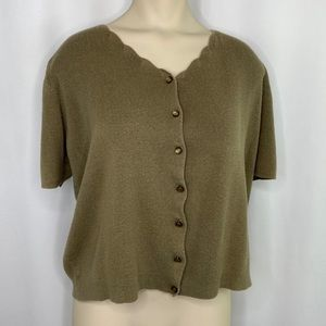 Sag Harbor Button Up Sweater - Medium